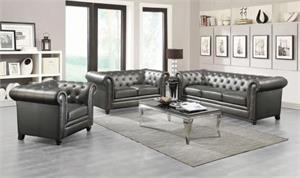 Roy Gunmetal Sofa Collection,551091 coaster