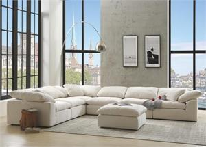 Cloud Modular Sectional Ivory Linen Item 55130, 55131, 55132, NAVEEN
