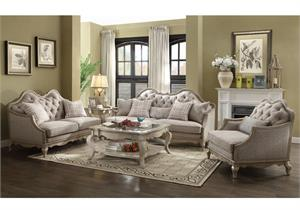 Chelmsford Collection Antique Taupe Sofa Set by Acme