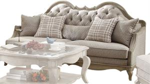 Chelmsford Collection Antique Taupe Sofa by Acme 56050