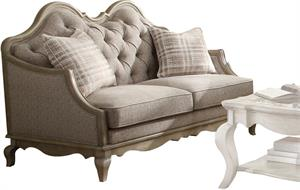 Chelmsford Collection Antique Taupe Loveseat by Acme 56051