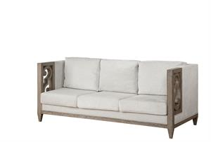 Artesia Collection Fabric & Salvaged Natural Finish Sofa Acme 56090