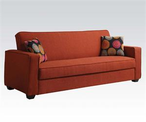 Red Linen Adjustable Sofa 57072 Acme,57072 acme