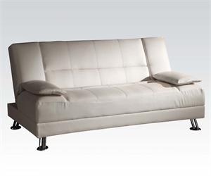 Fae Adjustable Sofa,57079 acme,white sofa bed