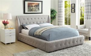 Vienna Queen Platform Bed,5857NGY homelegance