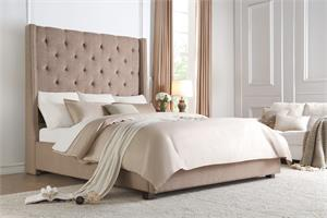 Fairborn Brown Bed.5877 homelegance,high headbord bed