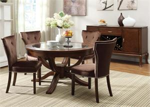 Kingston Pedestal Dining Set 60022,60022 acme,60024 acme,60027 acme