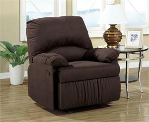 Chocolate Microfiber Glider Recliner Chair Item 600266G by Coaster