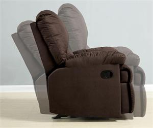 Microfiber Glider Recliner Chair by Coaster