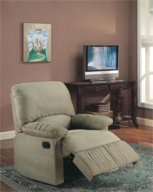 Sage Microfiber Recliner Chair Item 600264 by Coaster