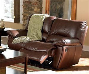 Leather Recliner Loveseat Clifford Collection Item 600282 by Coaster Furniture
