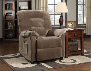 Power Lift recliner Chair Coaster 601025,601025 coaster,brown recliner chair