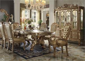 Dresden Gold Acme Dining Collection,63150 acme,63155 acme,64153 acme,64154 acme