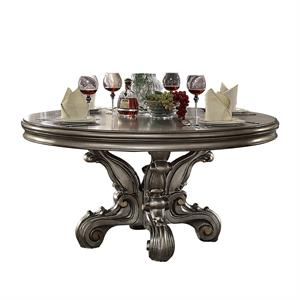 Versailles Antique Platinum Finish Round Dining Table Item 66840