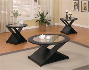 Black X Style Coffee Table Set,by Coaster