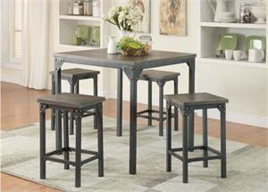 Percie Industrial Looking Counter Height Dining Set,71645 acme