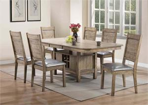 Ramona Rustic Oak Dining Set,72000 acme,72002 acme