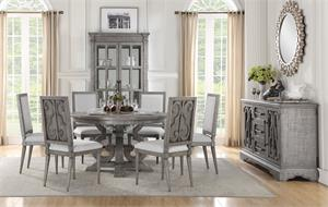 Artesia Collection Salvaged Natural Finish Round Dining Set Acme