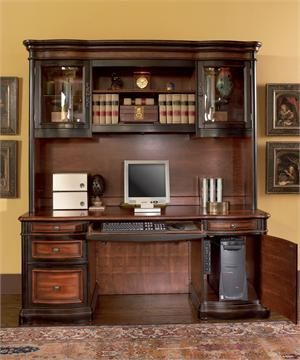 Front View Gorman Credenza and Hutch Item 800500 & 800501