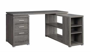 Weathered Grey Office Desk Yvette Collection,800518 coaster