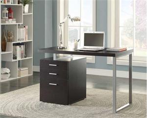 Brennan 3-drawer Office Desk Cappuccino by Coaster 800519