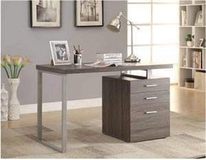 3-drawer Brennan Office Desk Weathered Grey by Coaster 800520
