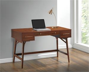 3-drawer Writing Desk Walnut by Coaster 800744