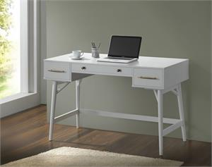 3-Drawer Writing Desk White by Coaster 800745