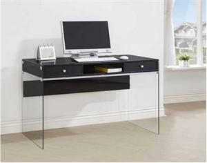 Glosy Black Computer Desk,800830 coaster