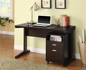 Breslin 2-piece Writing Desk Set Cappuccino by Coaster 800916