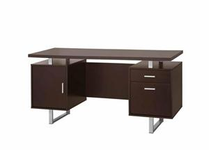 Glavan Office Desk and Credenza,801522 coaster,801521 coaster