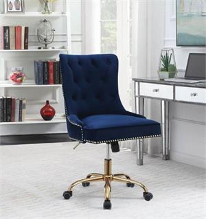 Blue Velvet Office Chair,801984 coaster