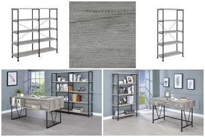 Analiese Office Collection Grey Driftwood and Black Color by Coaster
