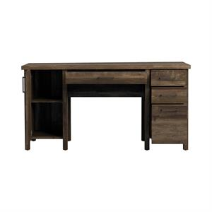 Tolar 4-drawer Adjustable Shelf Office Desk Rustic Oak by Coaster 803581