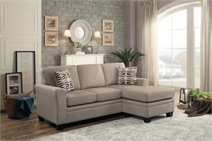 Synnove Light Brown Reversible Sectional,8209 homelegance