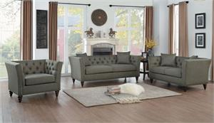 Marceau Dark Grey Sofa Set Collection,8224dg homelegance,8224dg sofa