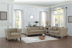 Marceau Tan Sofa Set Collection,8224tn homelegance,8224 homelegance