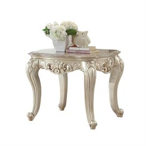 Gorsedd Collection Antique White Finish End Table by Acme 82442