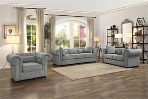 Savonburg Grey Sofa Set Collection,8427gy homelegance