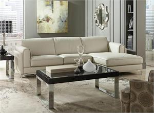 Hugo Top Grain Leather Sectional