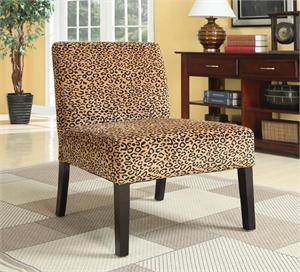 Leopard Print Accent Chair,900184 by coaster