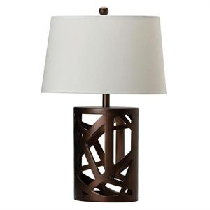 Table Lamp Rich Warm Brown Finish by Coaster item 901256