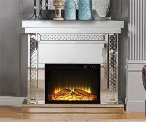 Nysa Fireplace Acme 90272,Nysa Mirrored Fireplace ,90272 acme