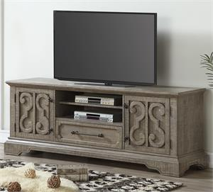 Artesia Collection Salvaged Natural Finish TV Stand 91765