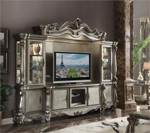 Versailles Antique Platinum Finish Entertainlent Center Item 91820