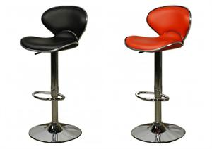 Orion Scoop Gaslift Bar Stool by New Pacific Direct