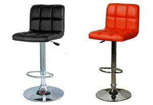 Jett Quilted Gaslift Bar Stool by New Pacific Direct