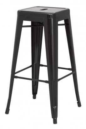 Metropolis Black Metal Counter Stool by New Pacific Direct