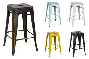 Distress Metropolis Metal Bar Stool Item 938630