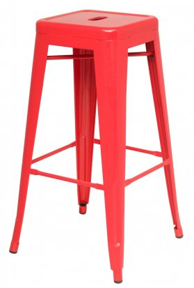 Metropolis Red Metal Counter Stool by New Pacific Direct